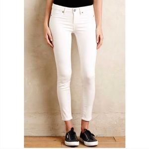Paige White denim ankle jeans